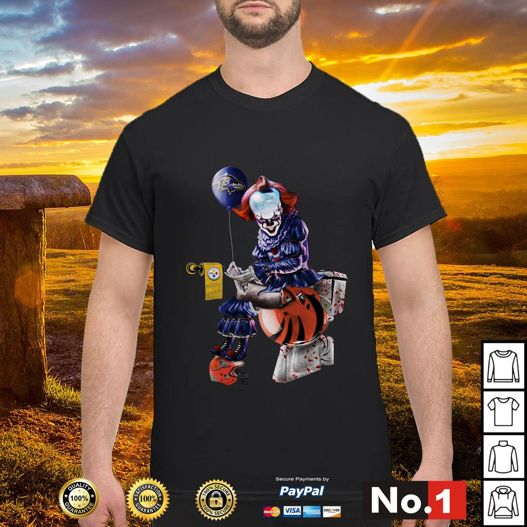 Pennywise Baltimore Ravens Pittsburgh Steelers Cincinnati Bengals Cleveland Brown shirt