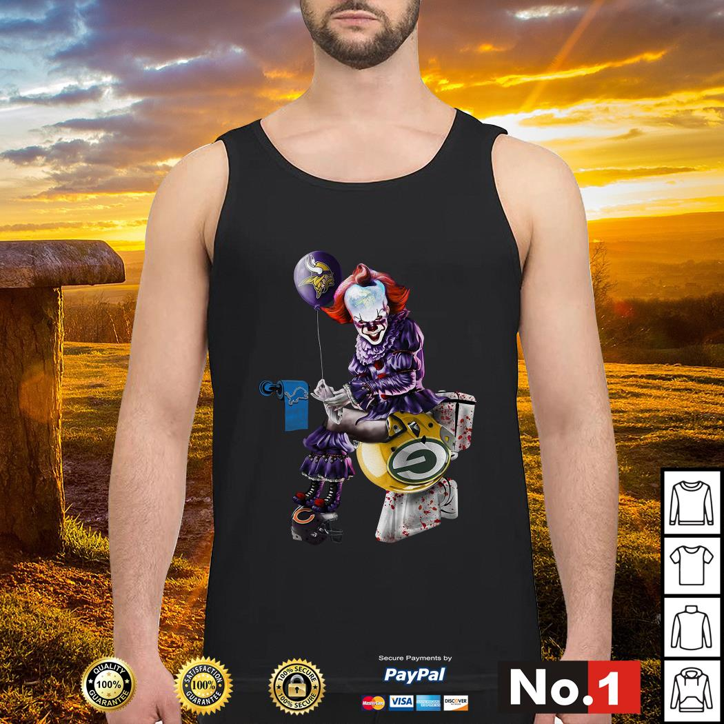 Pennywise Minnesota Vikings Detroit Lions Green Bay Packers Chicago Bears tank-top