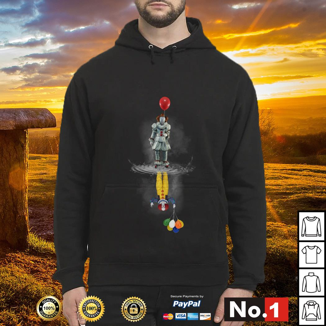 Pennywise water reflection mirror hoodie
