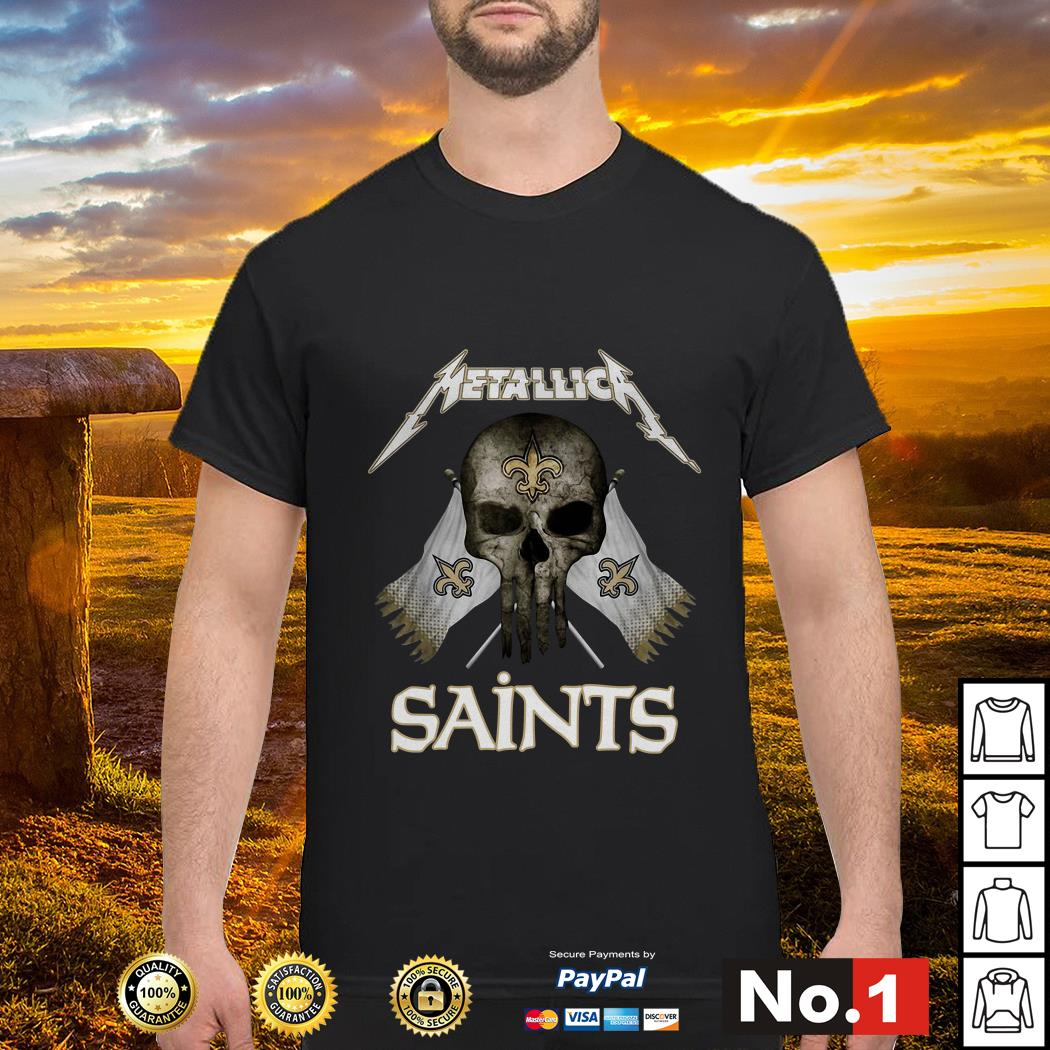 cheap for discount 384c8 97313 Skull Metallica New Orleans Saints shirt, hoodie, sweater ...