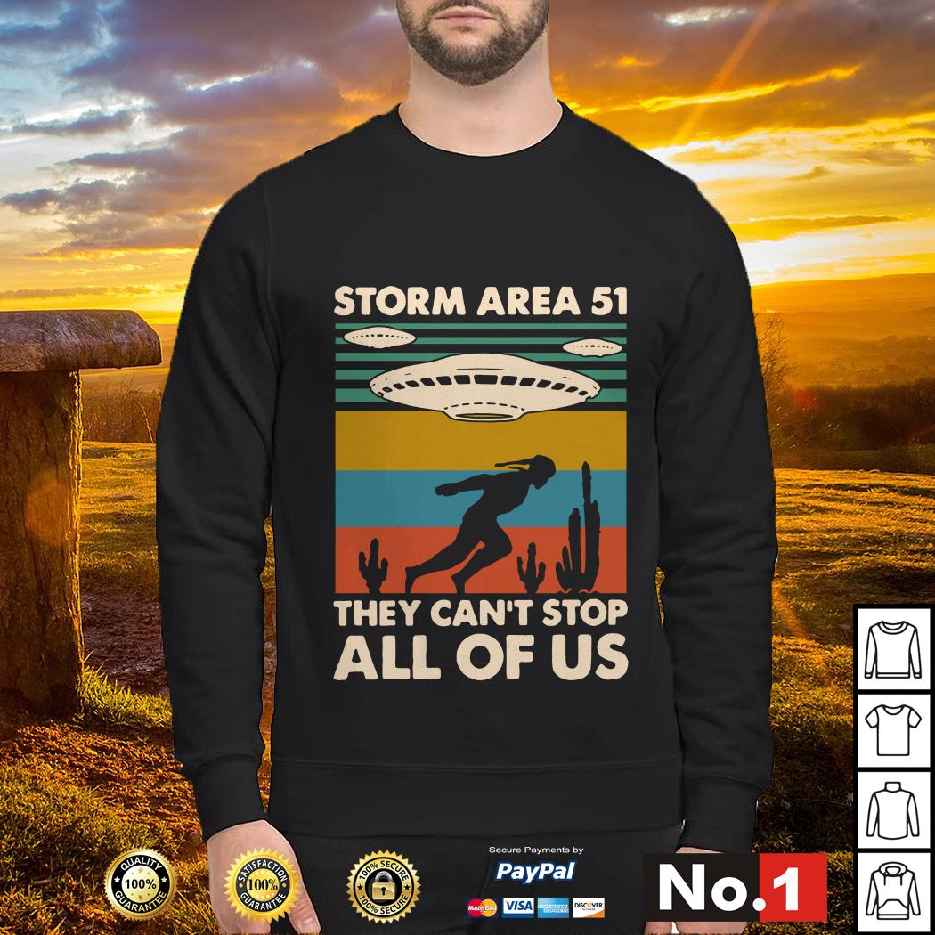 Storm area 51 they can't stop all of us vintage sweater