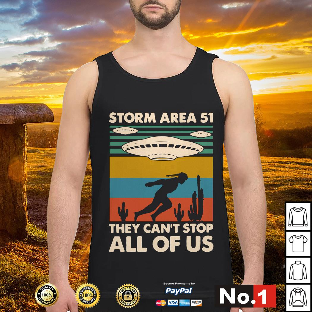 Storm area 51 they can't stop all of us vintage tank-top