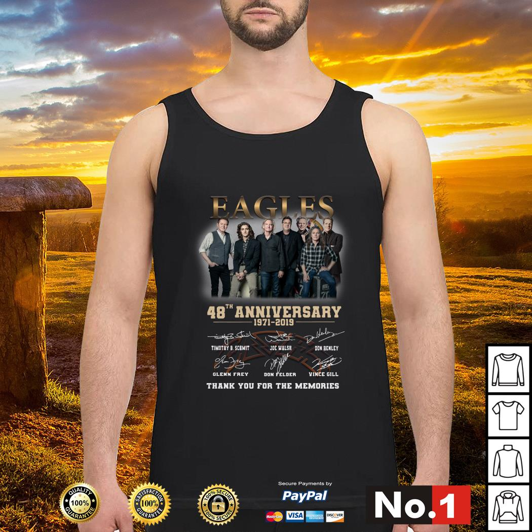 gles 48th anniversary 1971-2019 thank you for the memories tank-top