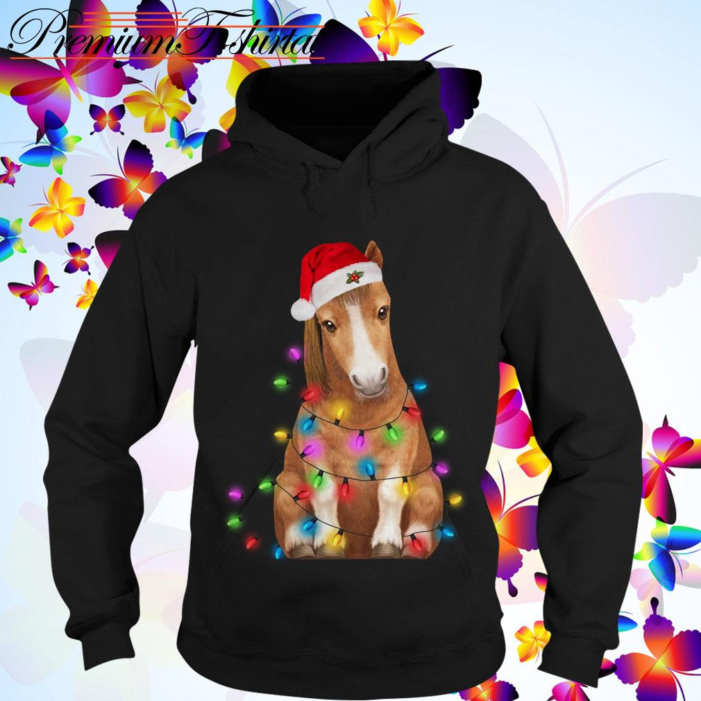 Christmas Horse Merry and bright T-shirt, sweater, hoodie and tank top