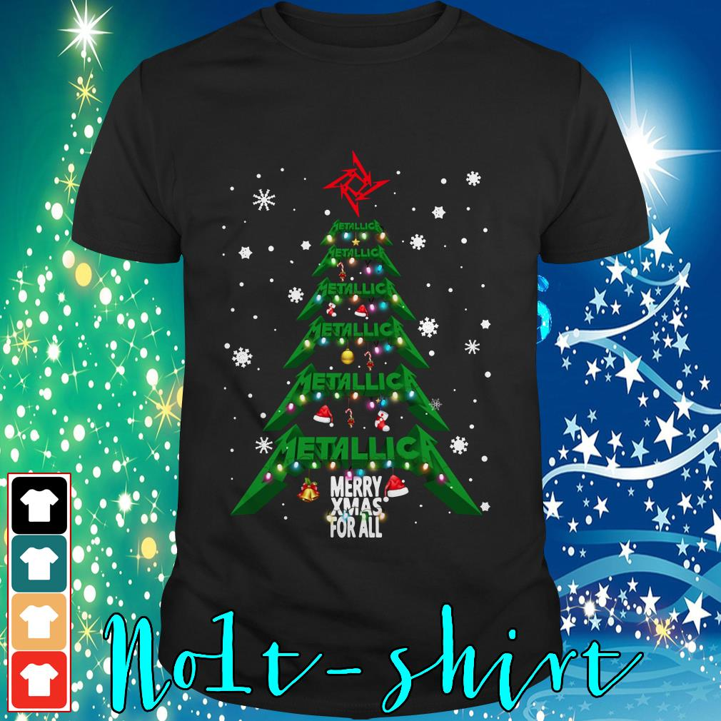 Metallica Merry Xmas for all Christmas tree shirt, sweater