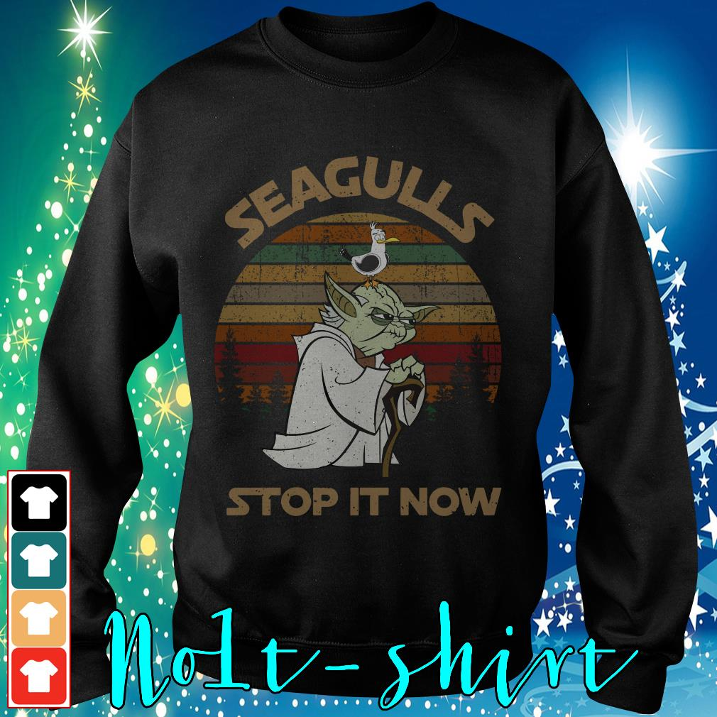 Yoda seagulls stop it now vintage shirt, sweater and hoodie