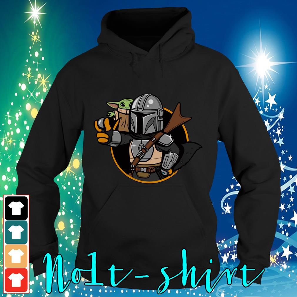 Baby Yoda Vault Mando and Child Mandalorian Hoodie