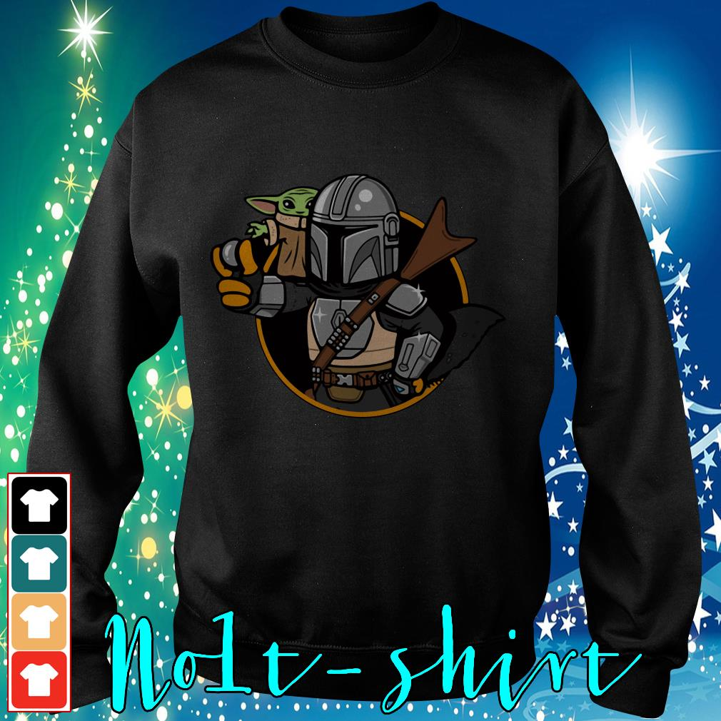 Baby Yoda Vault Mando and Child Mandalorian Sweater