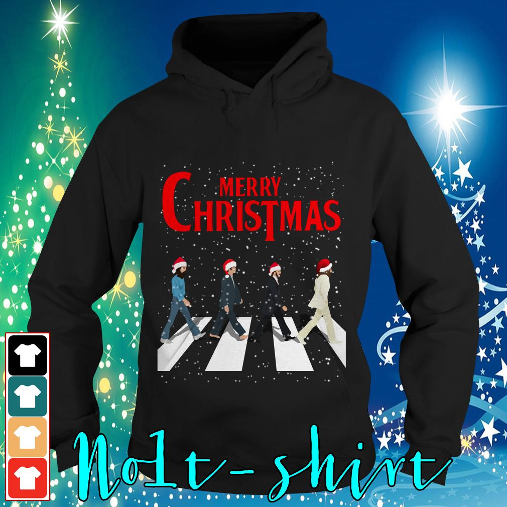 The Beatles Abbey Road Merry Christmas Hoodie