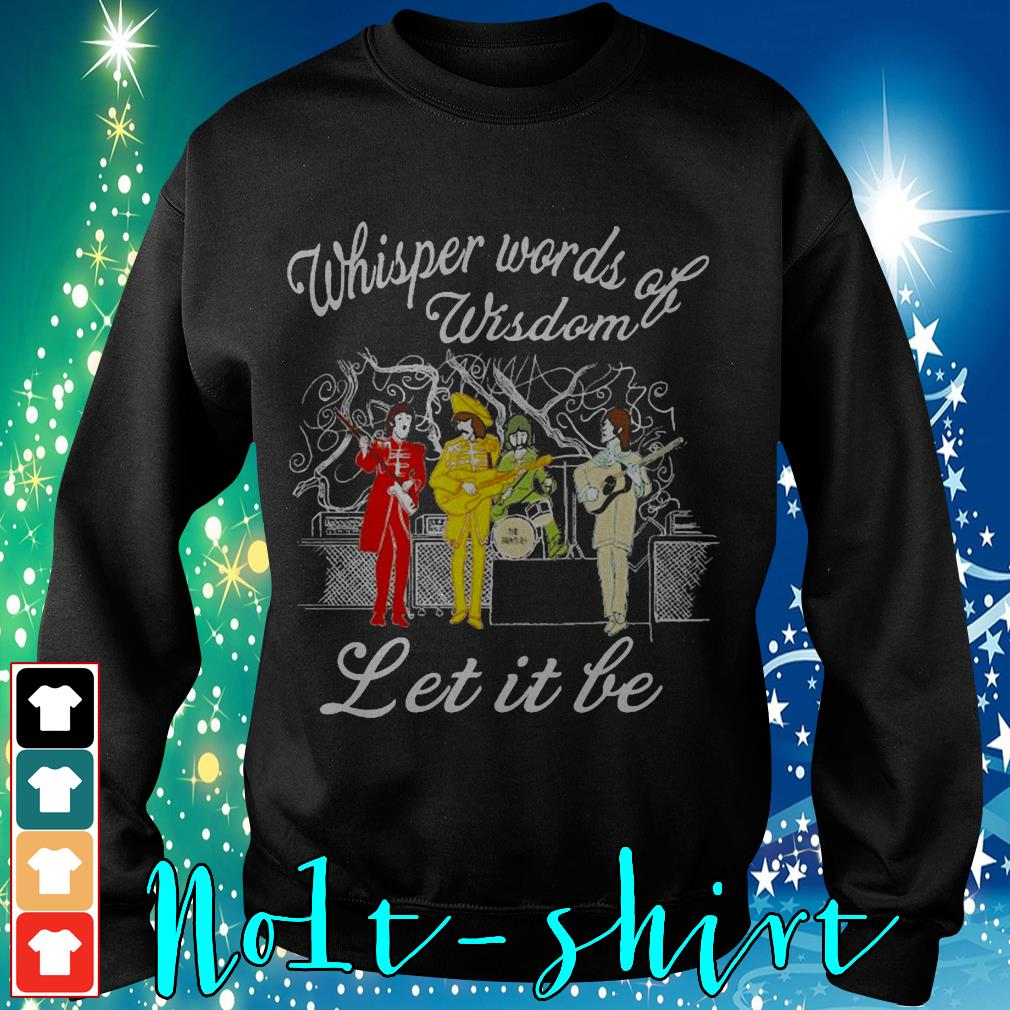 The Beatles whisper words of wisdom let it be Sweater