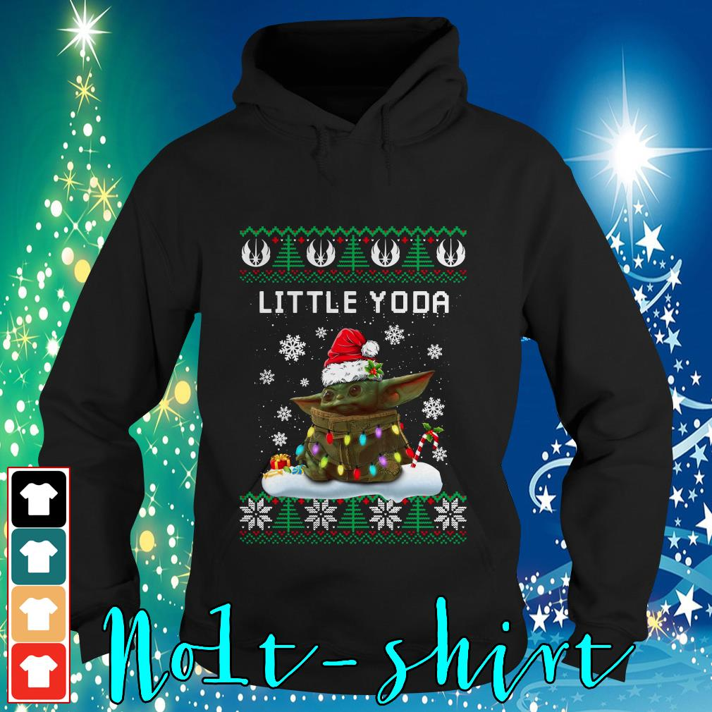 The Mandalorian little Yoda ugly Christmas Hoodie
