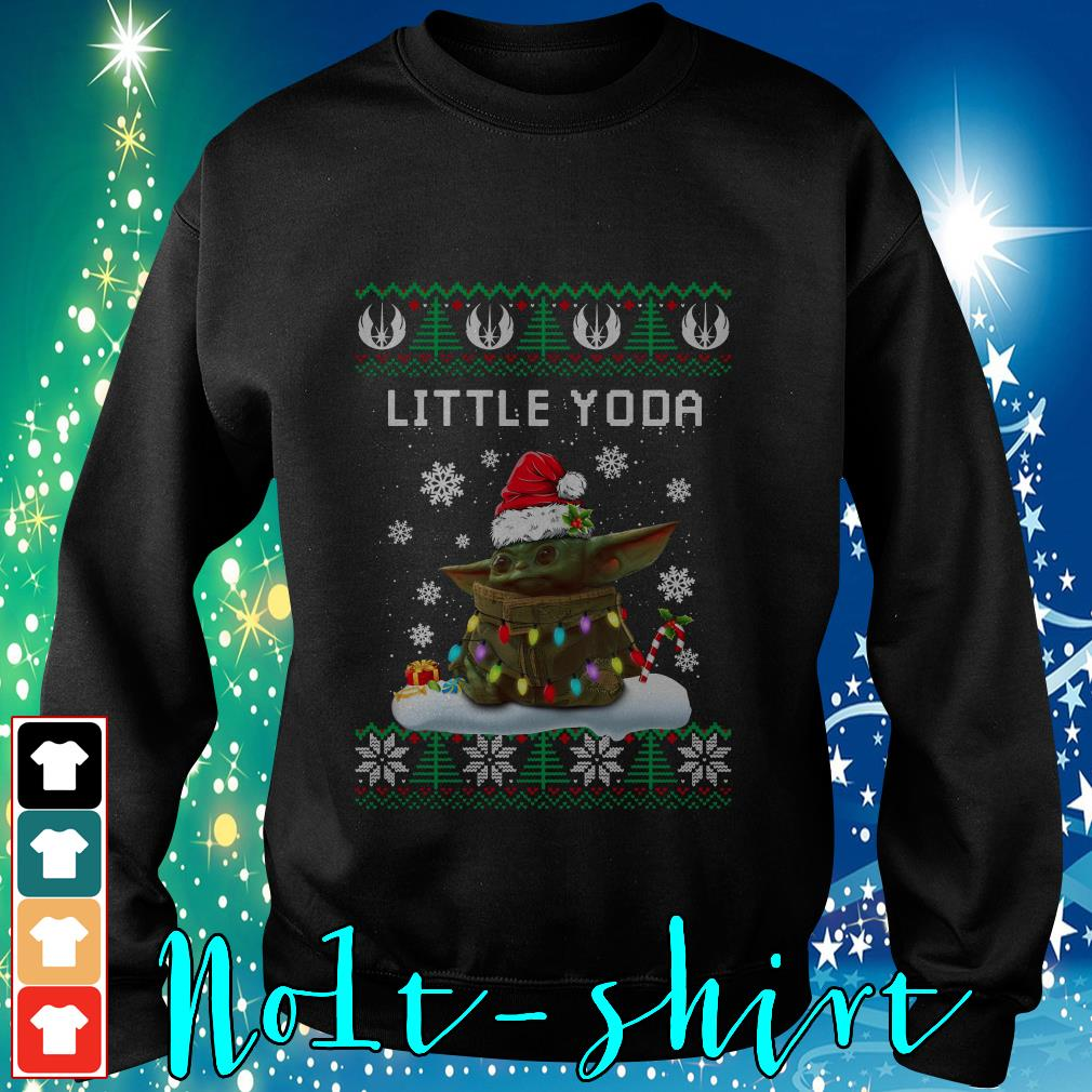 The Mandalorian little Yoda ugly Christmas Sweater