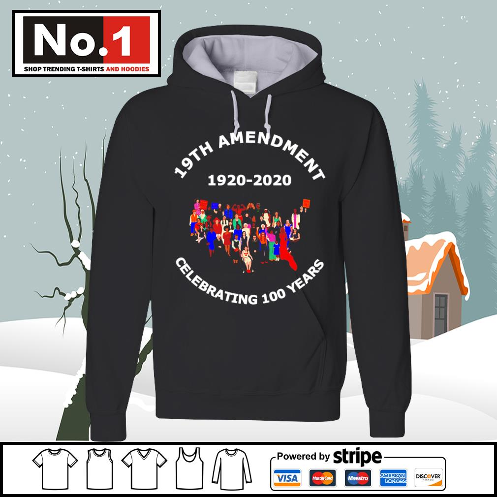 19th Amendment 1920-2020 celebrating 100 years hoodie