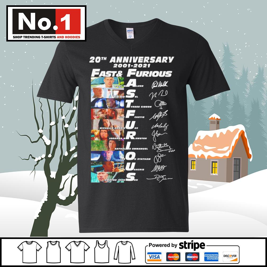 20th anniversary 2001-2021 Fast and Furious signature characters s ladies-tee