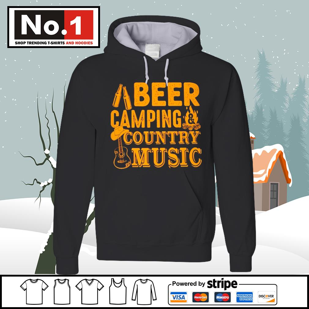 Beer camping country music s hoodie