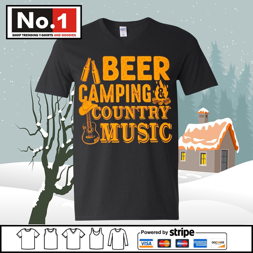 Beer camping country music s ladies-tee