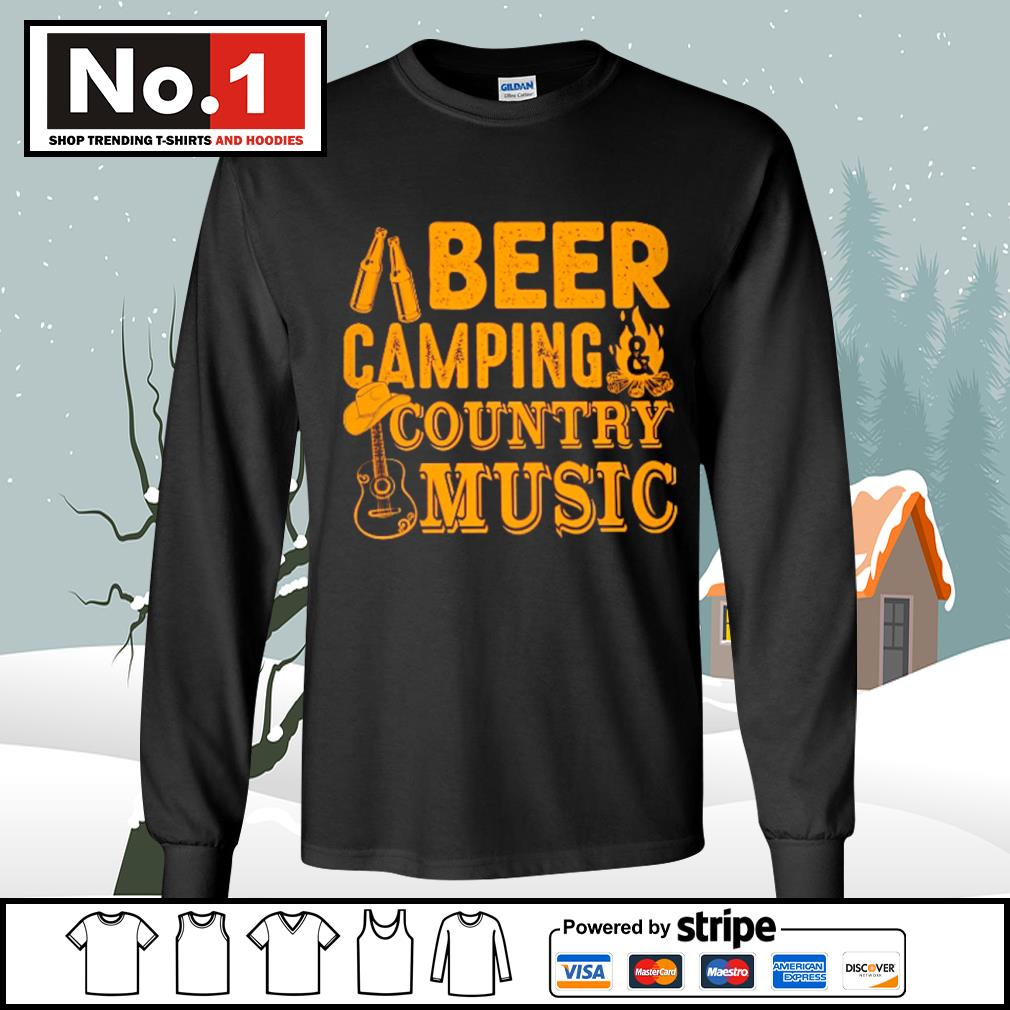 Beer camping country music s longsleeve-tee