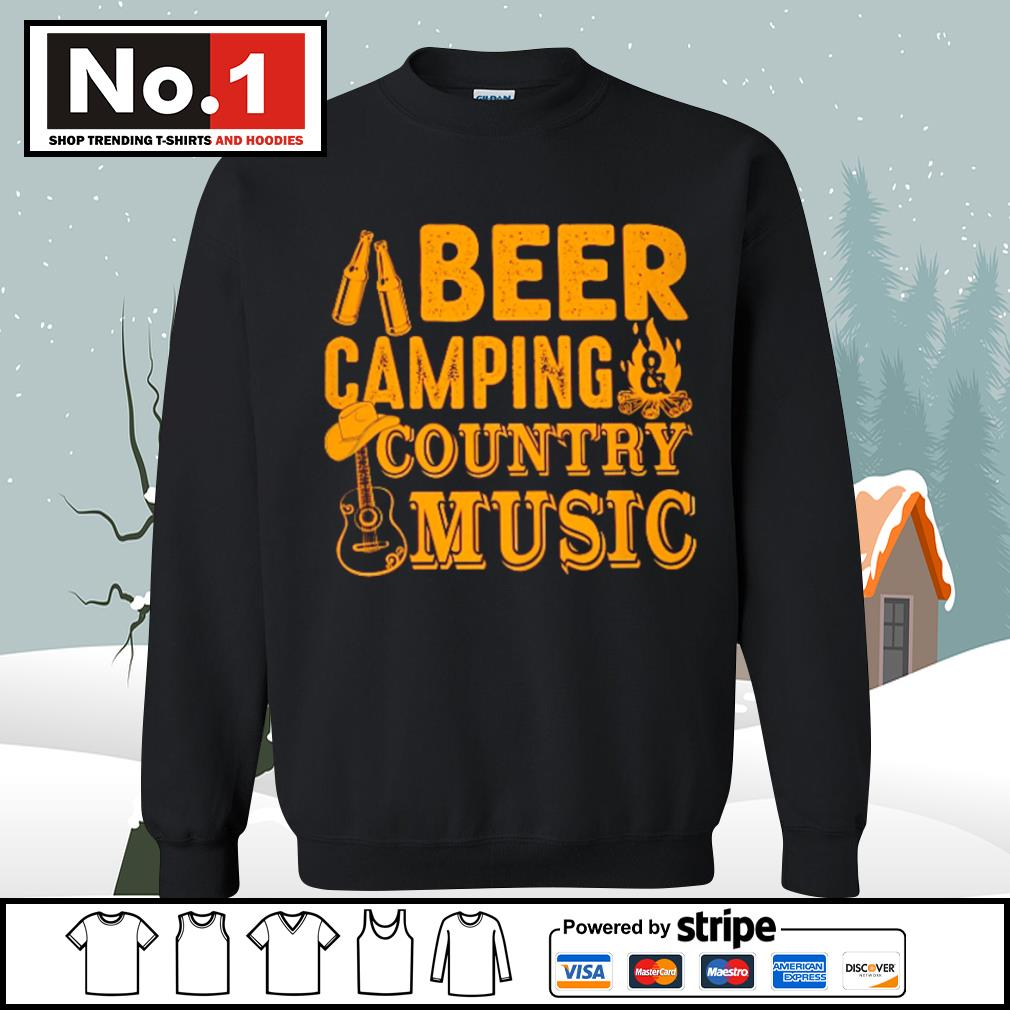 Beer camping country music s sweater