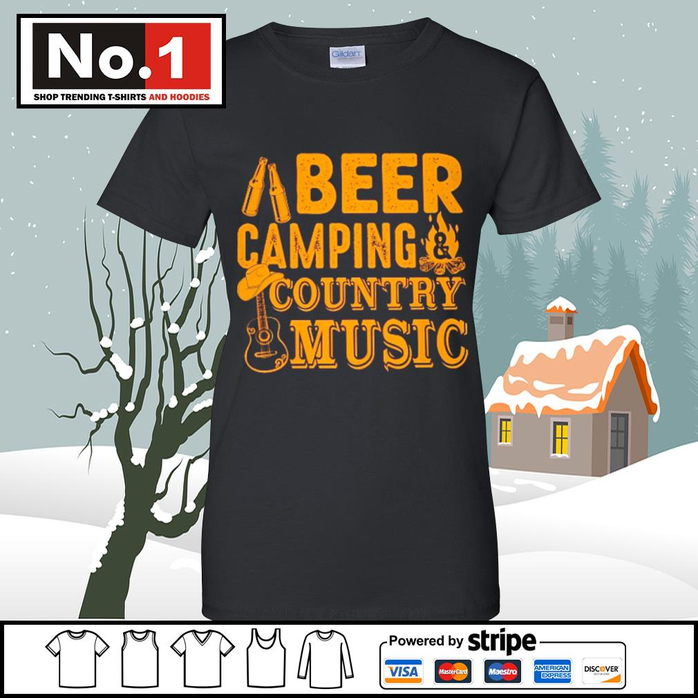 Beer camping country music s v-neck-t-shirt