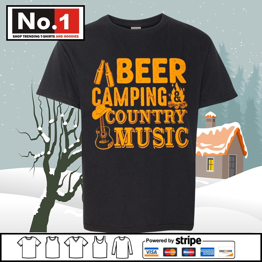 Beer camping country music s youth-tee