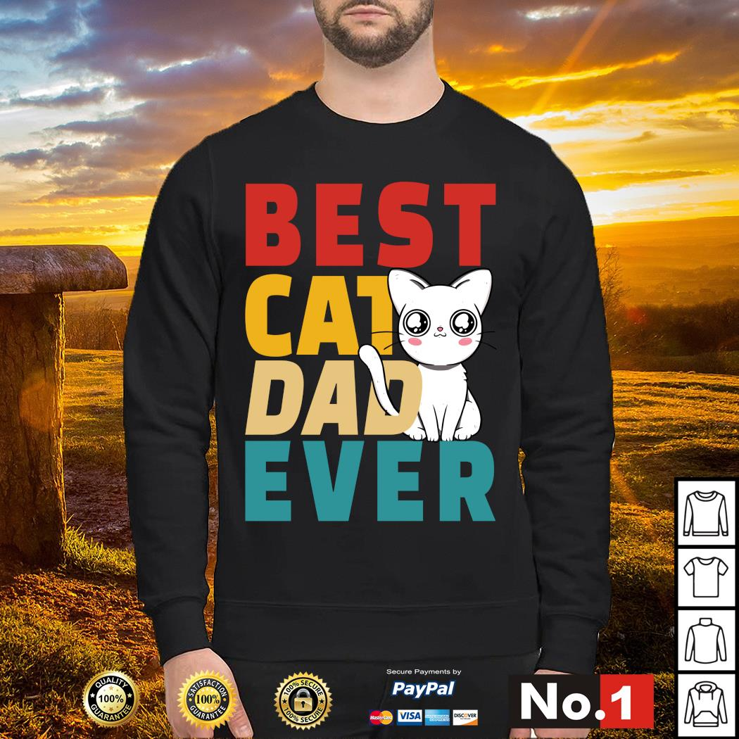 Best cat dad ever vintage s sweater