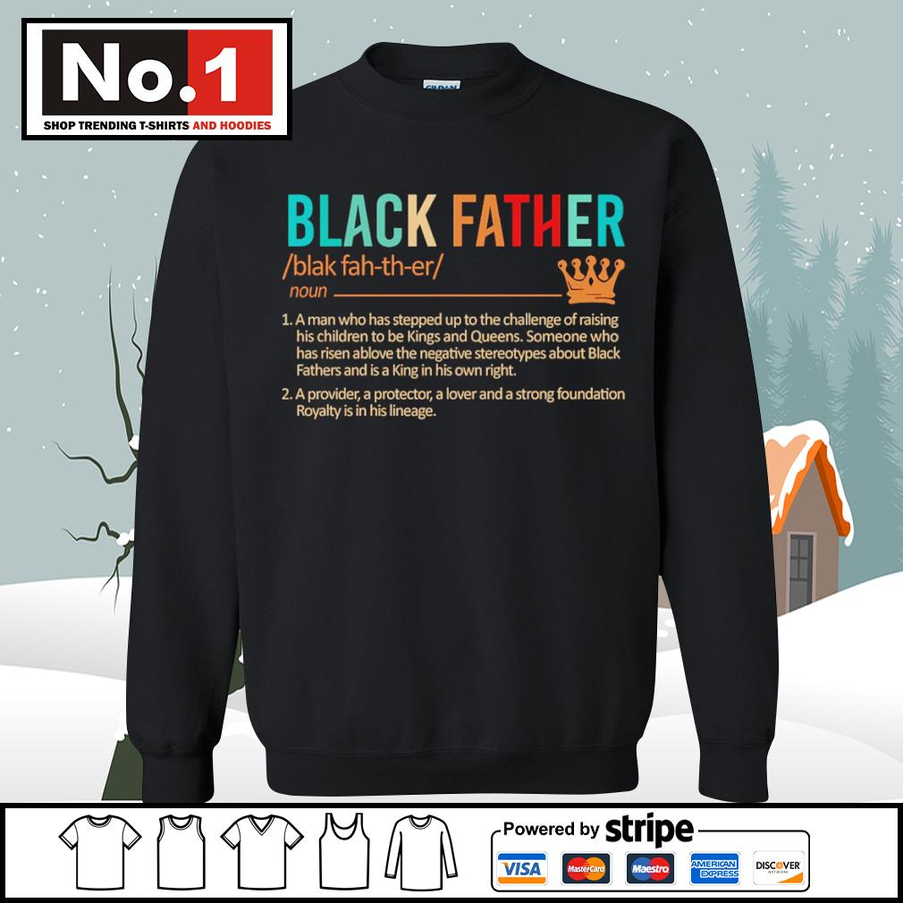 Black father a man who has stepped up to the challenge of raising s sweater