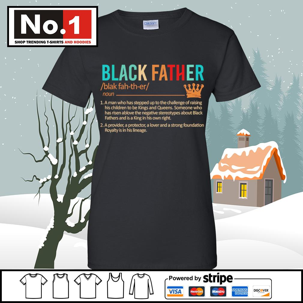 Black father a man who has stepped up to the challenge of raising s v-neck-t-shirt