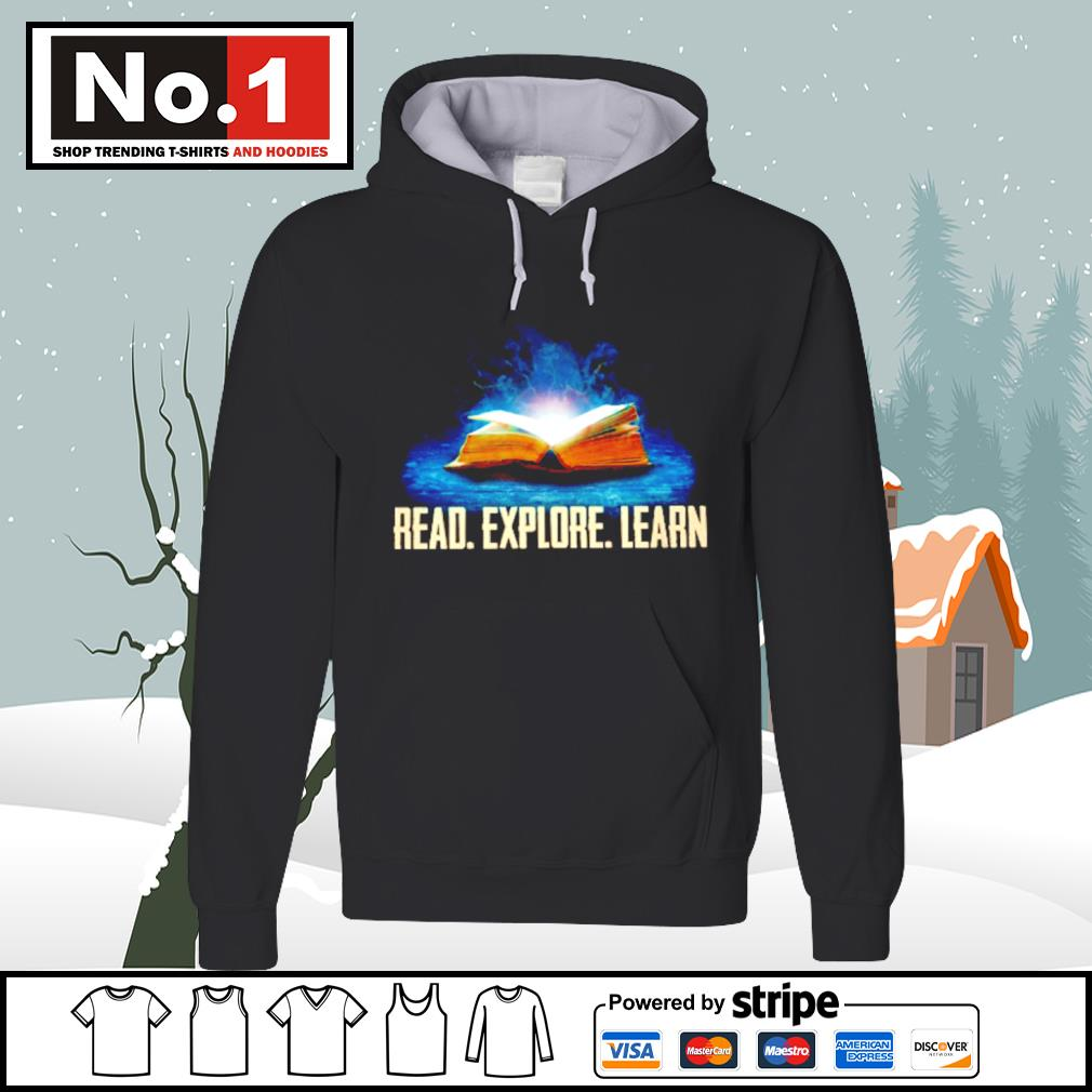 Book read explore learn s hoodie