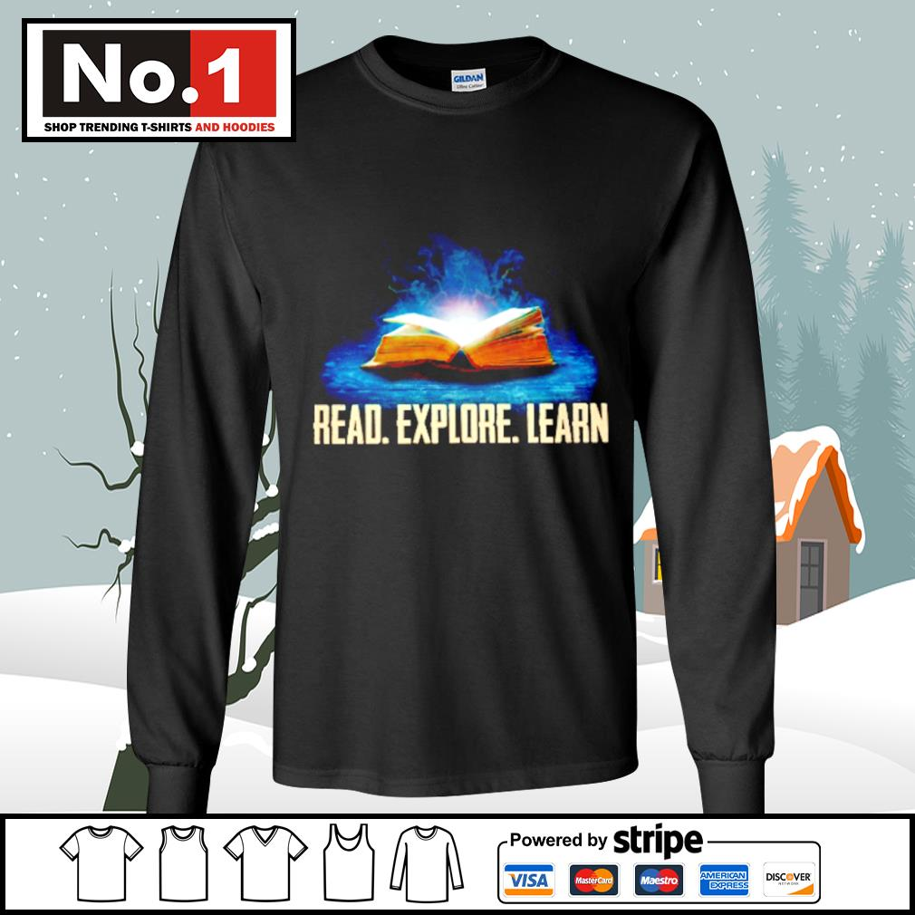 Book read explore learn s longsleeve-tee