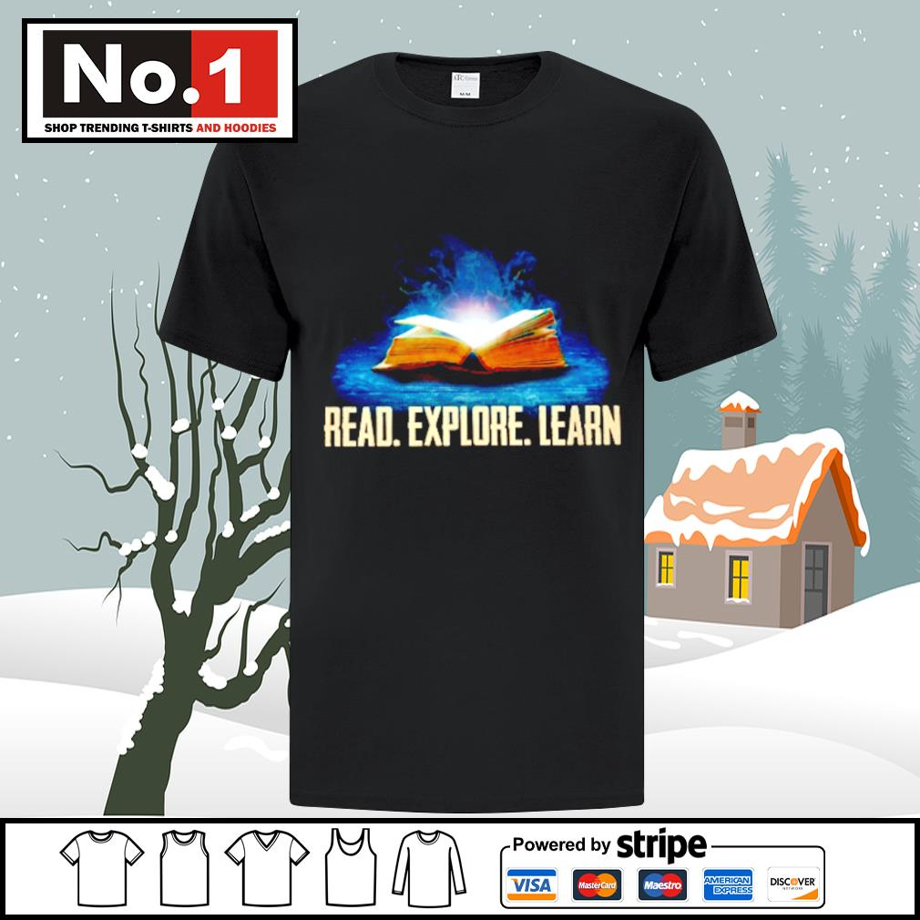Book read explore learn shirt