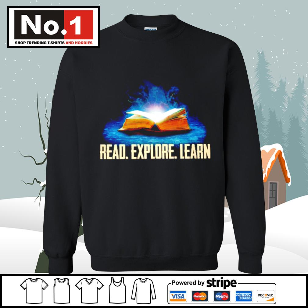 Book read explore learn s sweater