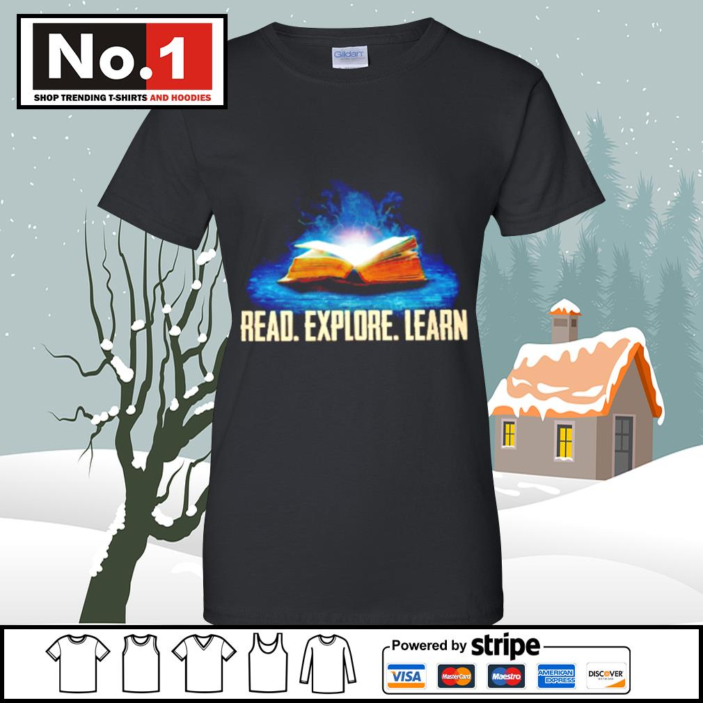 Book read explore learn s v-neck-t-shirt