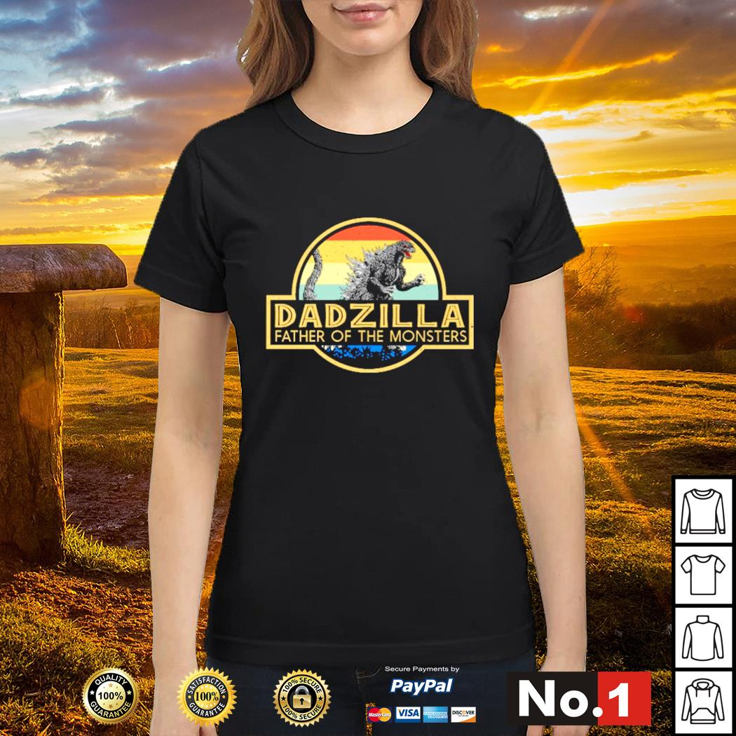 Godzilla dadzilla father of the monsters vintage s ladies-tee