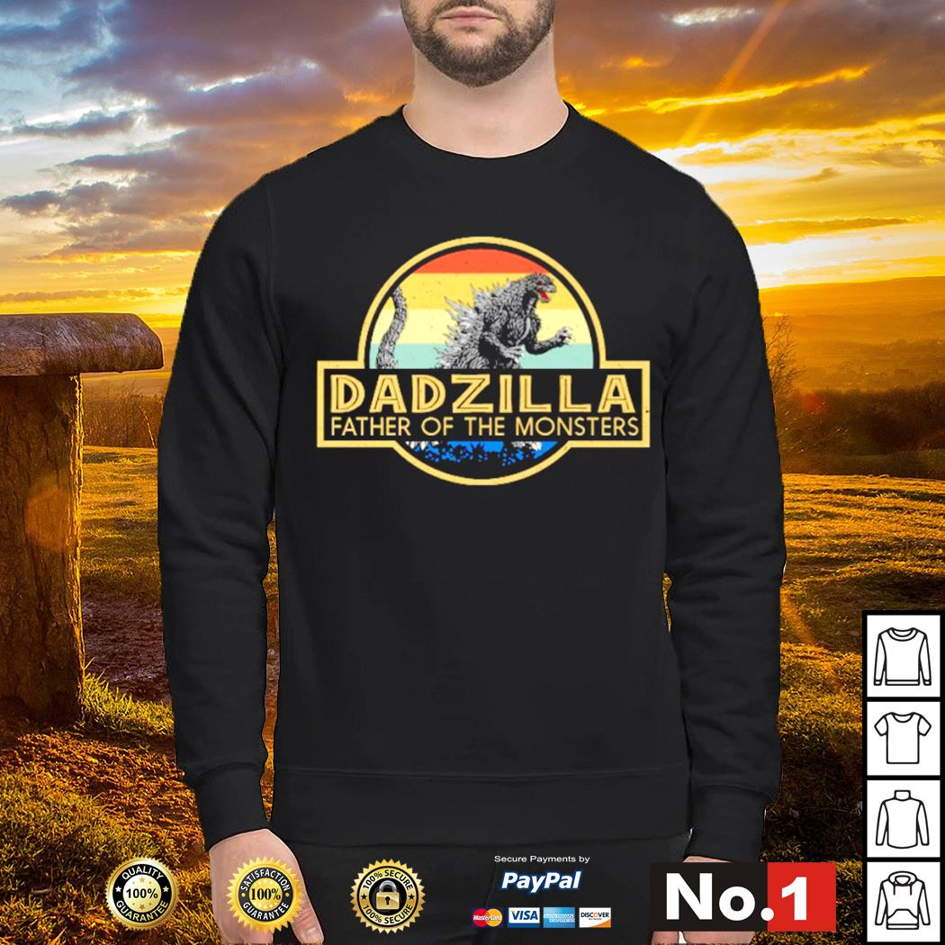 Godzilla dadzilla father of the monsters vintage s sweater