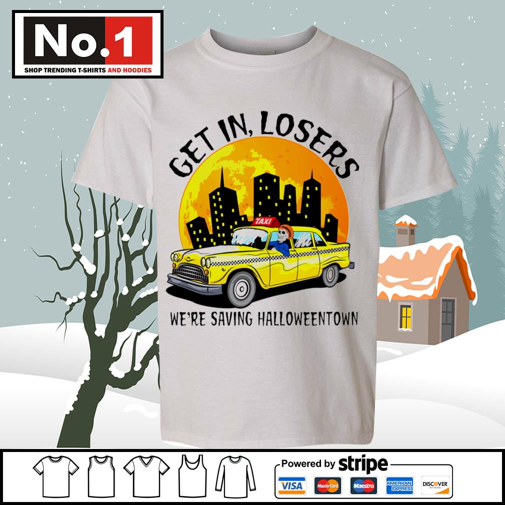 Halloween Taxi get in losers we're saving Halloweentown s youth-tee