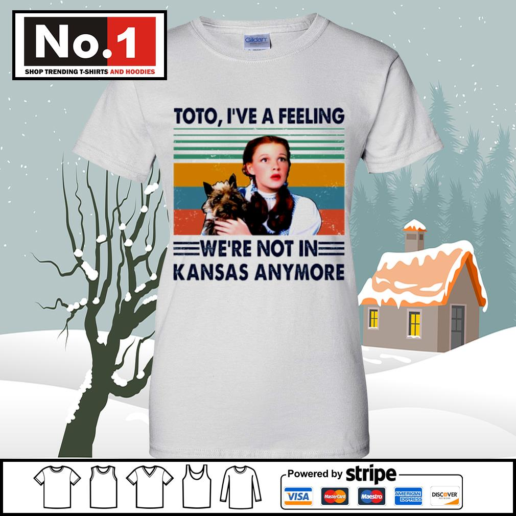 Judy Garland Toto I've a feeling we're not in Kansas anymore vintage s v-neck-t-shirt