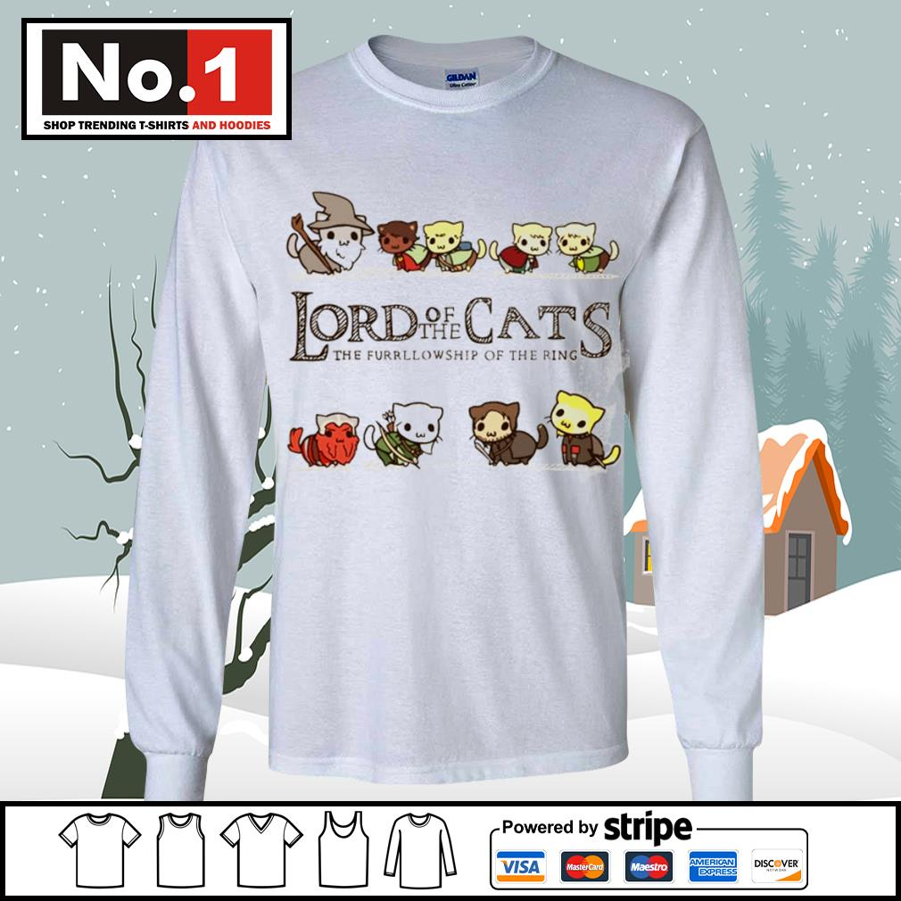 Lord of the Cats the fellowship of the ring s longsleeve-tee