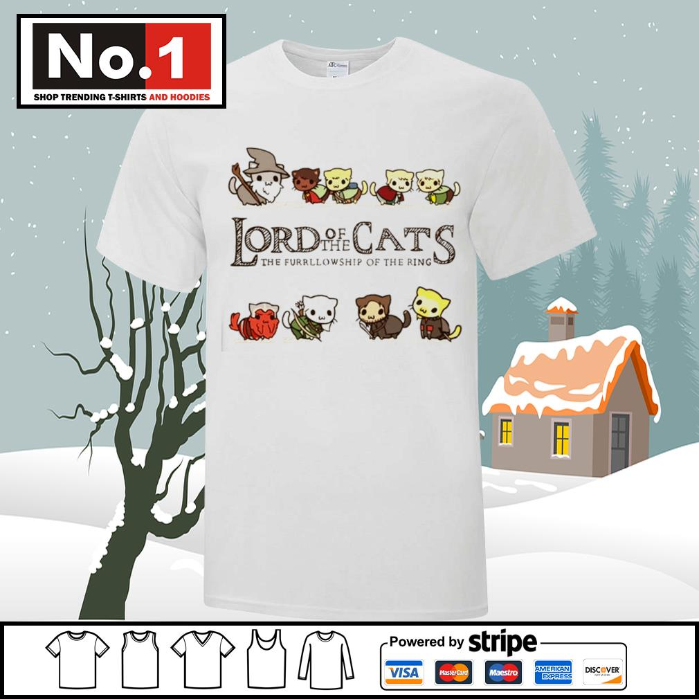 Lord of the Cats the fellowship of the ring shirt