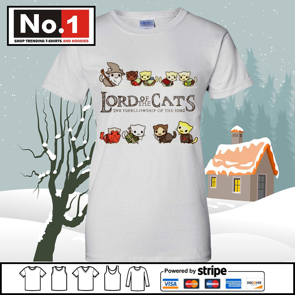 Lord of the Cats the fellowship of the ring s v-neck-t-shirt