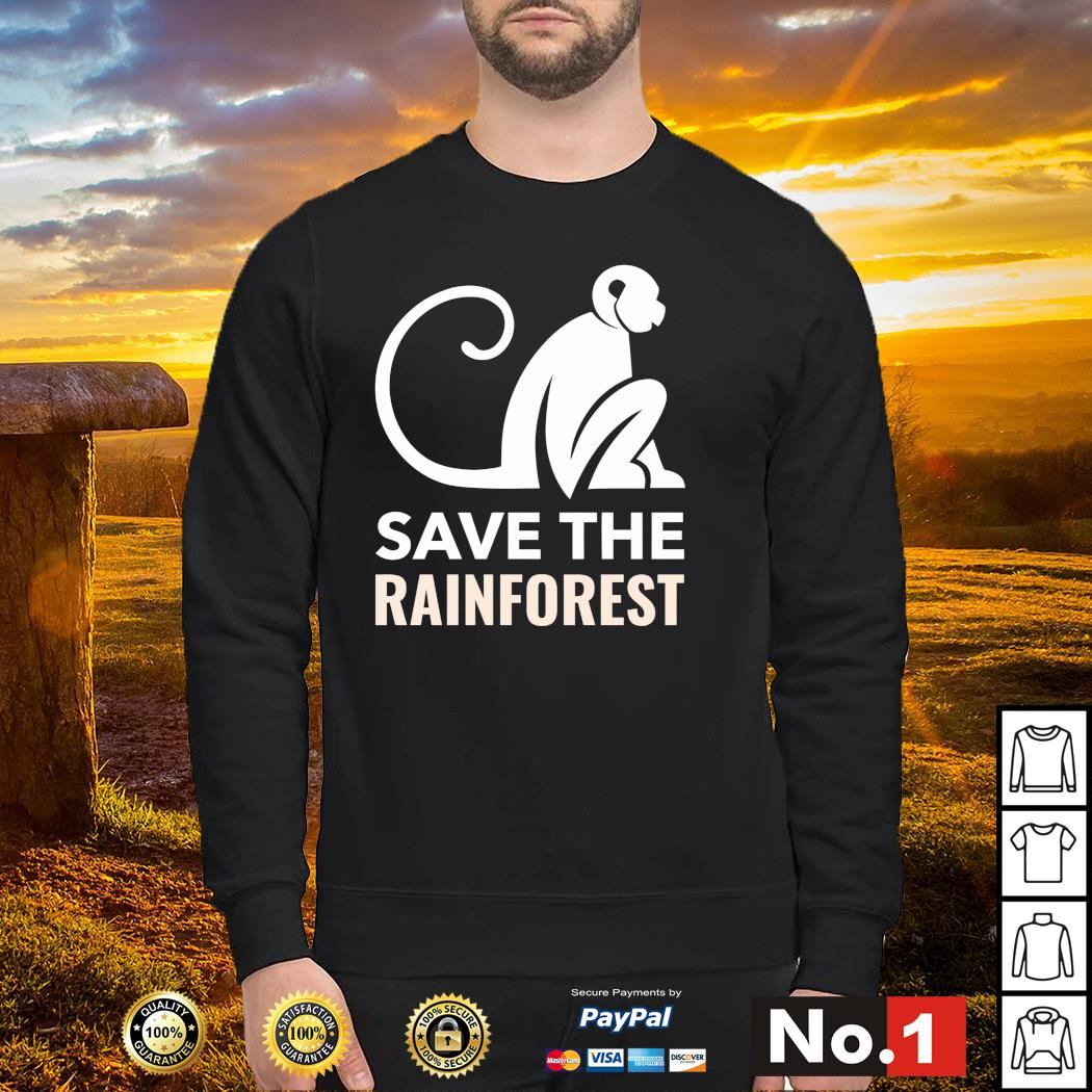 Monkey save the rainforest s sweater