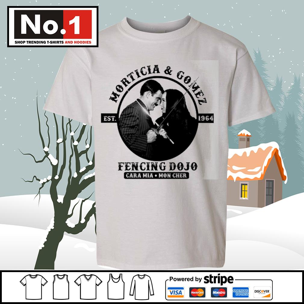Morticia and Gomez est.1964 fencing dojo s youth-tee