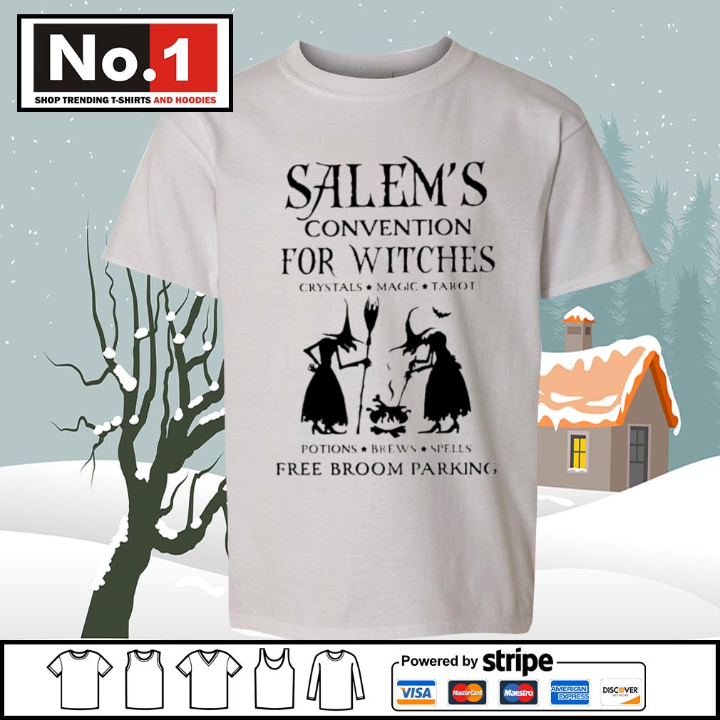 Salem's convention for Witches crystals magic tarot potions brews spells free broom parking s youth-tee