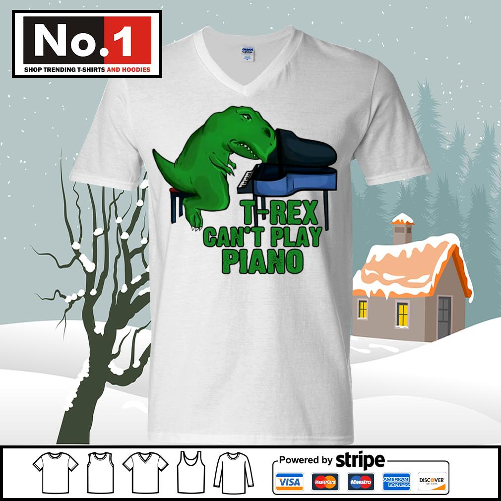 T-Rex can't play piano s ladies-tee