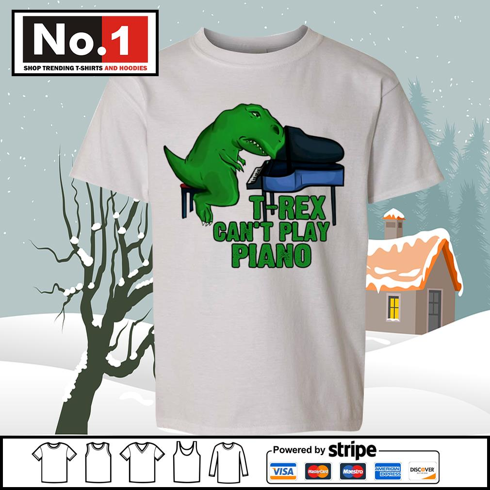 T-Rex can't play piano s youth-tee