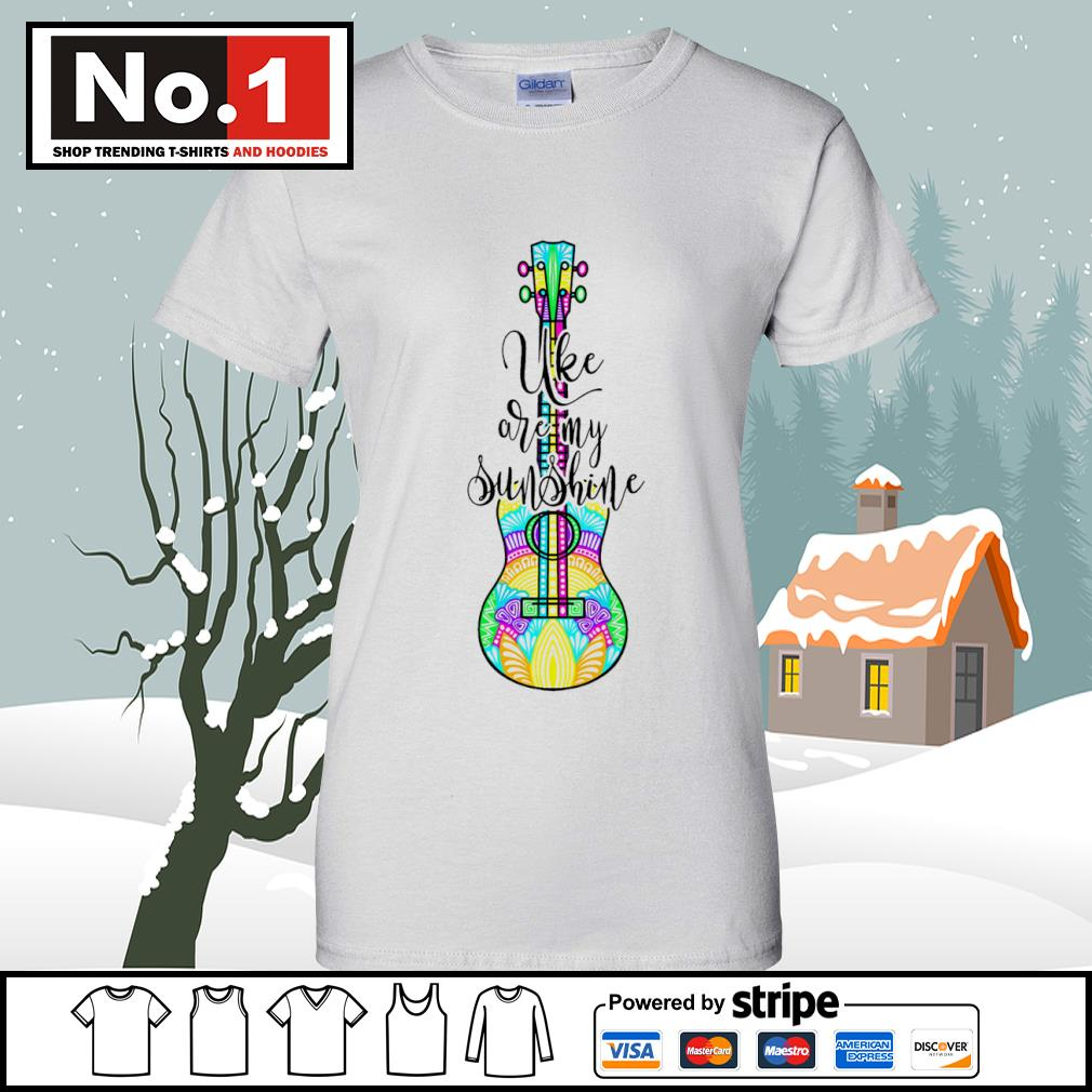 Ukulele uke are my sunshine s v-neck-t-shirt