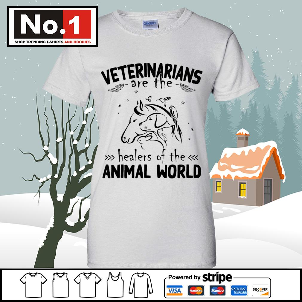 Veterinarians are the healers of the animal world s v-neck-t-shirt