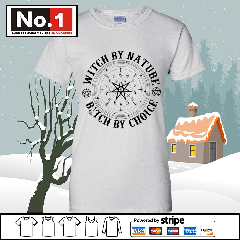 Witch by nature bitch by choice s v-neck-t-shirt