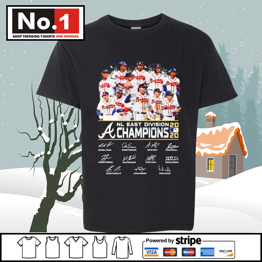 Atlanta Braves NL East Division a champion 2020 signature s youth-tee