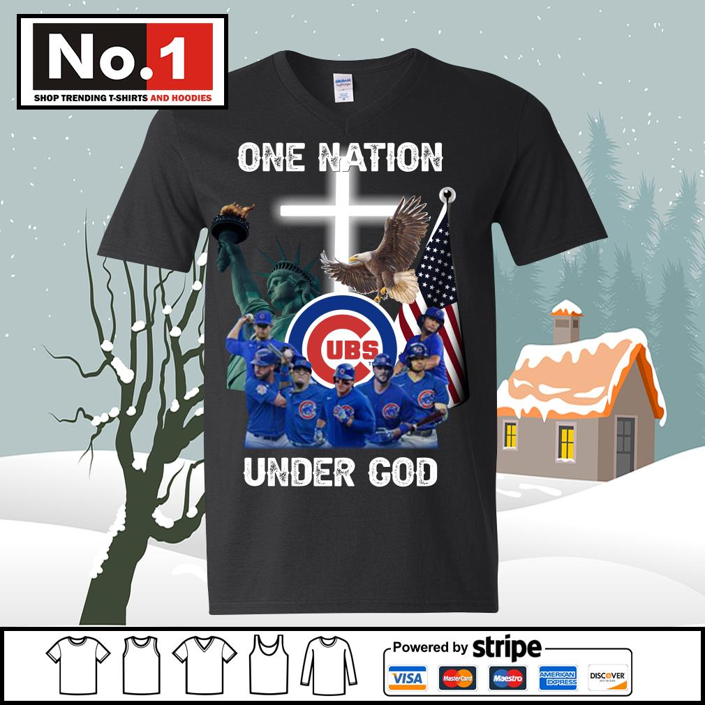 Chicago Cubs one nation under God s ladies-tee