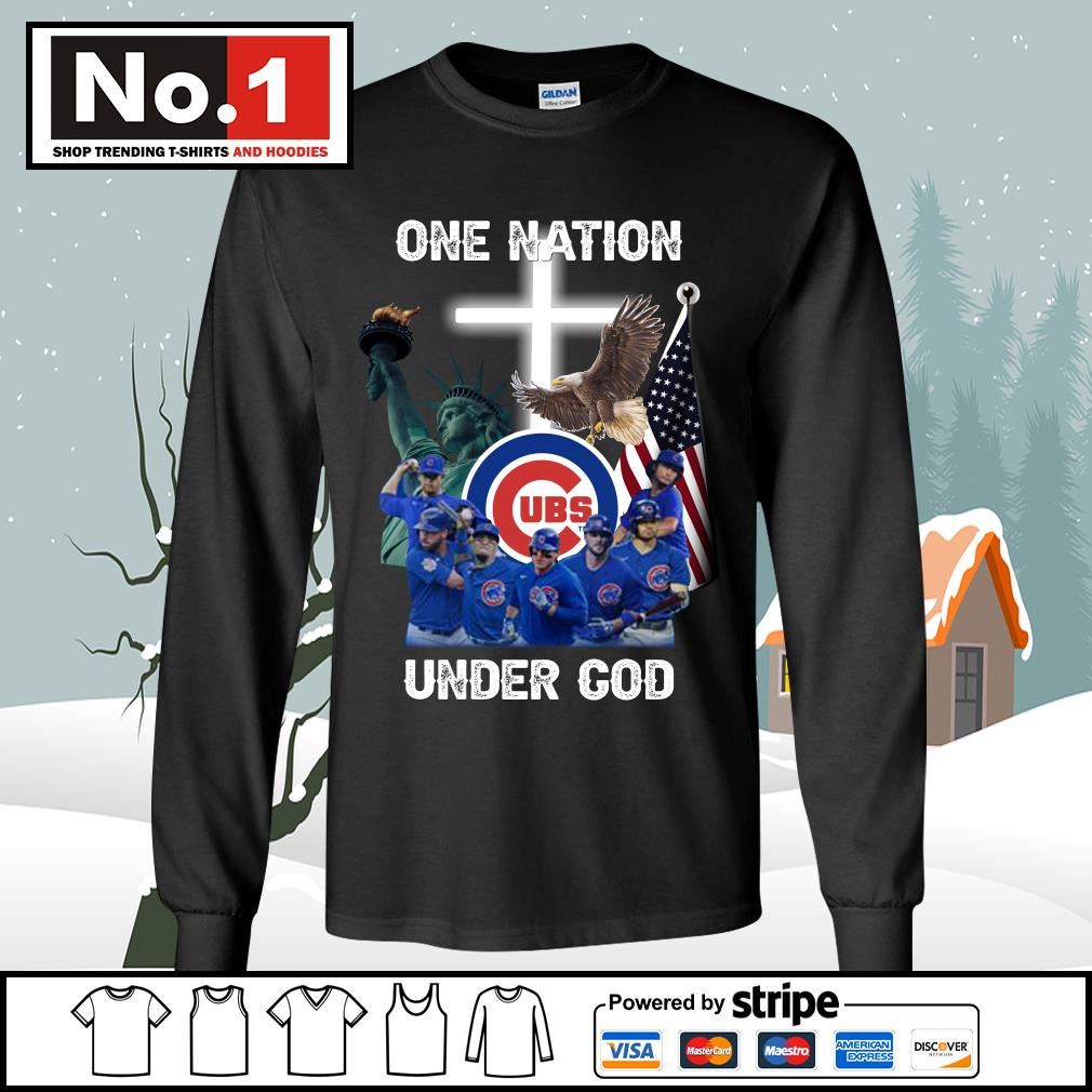 Chicago Cubs one nation under God s longsleeve-tee